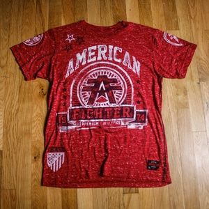 American Fighter Texture Front Graphic T-shirt